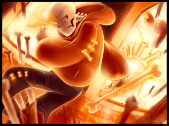 Underswap Papyrus!!!! One Angry Carrot by WalkingMelonsAAA