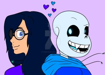 Sans/Rachel: Together by RTNightmare