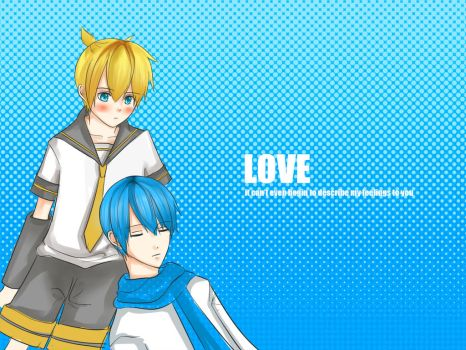 Kaito x Len is LOVE~ Colored version by sapiboong