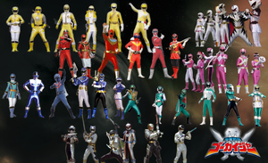 All Color Gokai Change v.3 by mewpearl