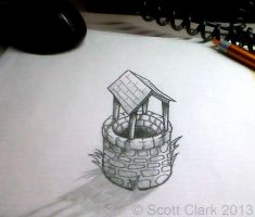 DeskWell - Perspective 3D illusion drawing by ScottClarkArt
