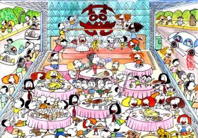 wedding party by dingtong