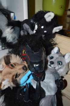 attack of the plush wolves by whittykitty by Life-Of-Plushies