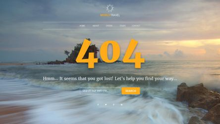 404 Page PSD Template by xara24
