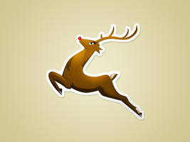 reindeer icon - free psd by nelutuinfo