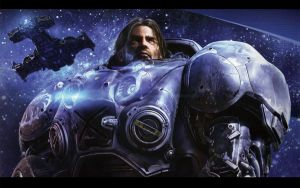 SCII: Raynor Wallpaper by ChaosComix