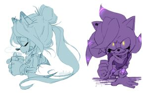 CM. August and Gio Sketches by gisellephants