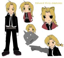 :FMA: Edward Elric Sketches by MiharutheKunoichi