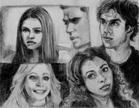 Vampire Diaries Surprise by Catluckey