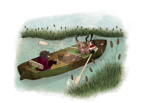 Ratty and Mole go boating by emmavictoria88