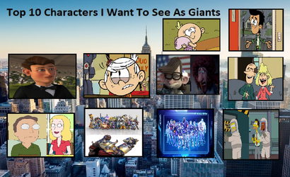 Top 10 Characters I want to see as giants by Paula712