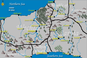 Map of Wechta and Surrounding Nations by LadyMerrethsAuthor