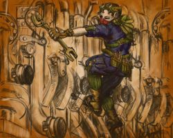 Weekly Character #2: Steampunk Mechanic by RedStudioRat