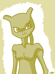 Mewtwo Morning doodle by Adam-Clowery