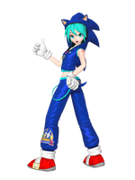 MMD - Download: DTE Sonic Style Miku by Tuni-kun