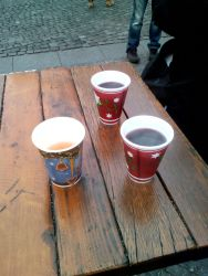 Hot Mulled Wine and Hot Apple Juice by Vex2001