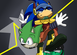 Scourge and Zonic by NinaHunter