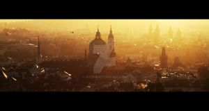 Golden Mornings - Prague by Quenia