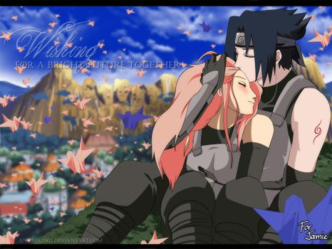 Commission: SasuSaku WISH by annria2002