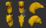 Zbrush Pern Dragon Head