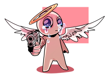 Isaac but he's got a gun by Nick-likes-toast