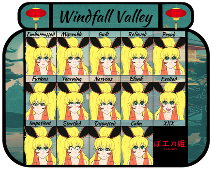 Windfall Valley: Kyona Expression Meme by VoodooRed
