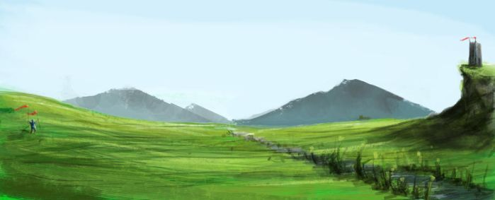 Landscape Green by Lu-Sc92