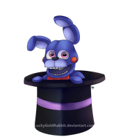 Rabbit in a Hat by LuckyGoldRabbit