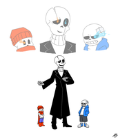Gaster and sons by YueJo
