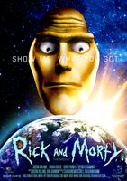 Rick and Morty Movie Poster by tony-revdoog