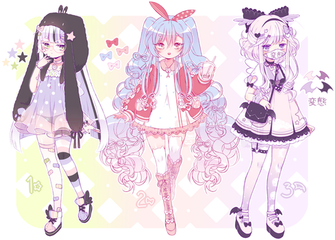 [CLOSED] ADOPT AUCTION - Pastel Lolis by MiiaChuu