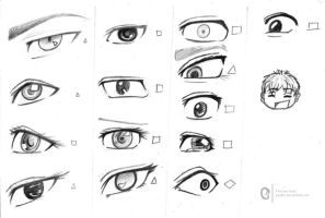 Some eyes sketches by perikls