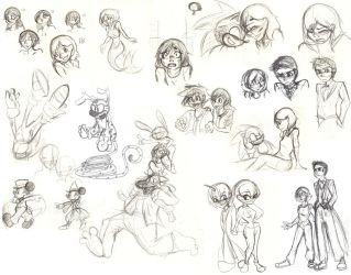 More Sketches by SonicHearts