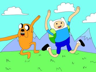 Adventure Time Jake and Finn by nihongoboy