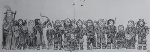 The Hobbit - Fellowship by FrerinHagsolb