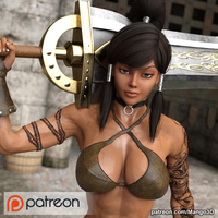 Patreon Preview: Konna The Barbarian by Mango3D