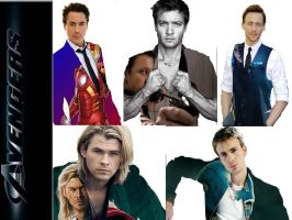 Avengers Actor Collage by dark-chocobo