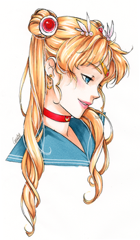 Sailor Moon bust [final] by Emily-Fay