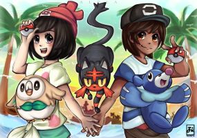 [Pokemon Sun and Moon]: Starter Pokemon! by ZeonXeria