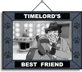 Timelord's Best Friend (Black and White) by wanderingent