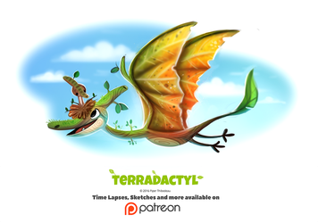 Day 1373. Terradactyl by Cryptid-Creations