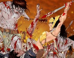 War Goddess wraparound cover by MDiPascale