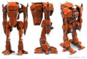 Robot - Large Front - Red by DXBigD