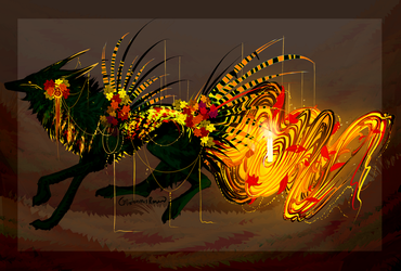 Candle of Harvest Hope QuillDog Auction by MischievousRaven