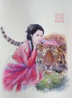 Happy Lucky Tiger's Year 2010 by a-thammasak