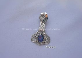 'Dragon hammer' sterling silver pendant by seralune