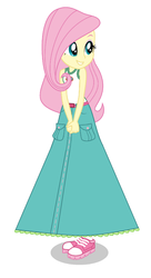 Fluttershy in a New Camp Everfree Oufit by Starman1999