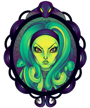 Monster girls - Medusa by zombiemoose