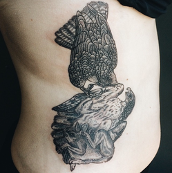 And a rabbit gives up somewhere tattoo by edelias