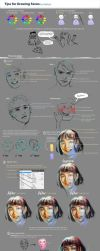 Tips for Drawing Faces by zephy0
